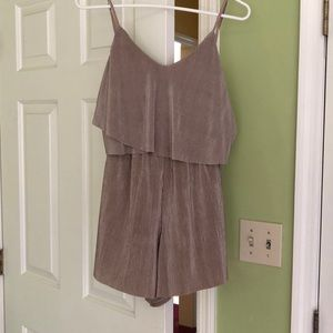 Nude suede romper. Size M